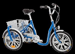 trehjuling med 2 hjul bak